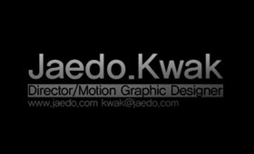 Jaedo Kwak – Motion Graphics Reel 2009